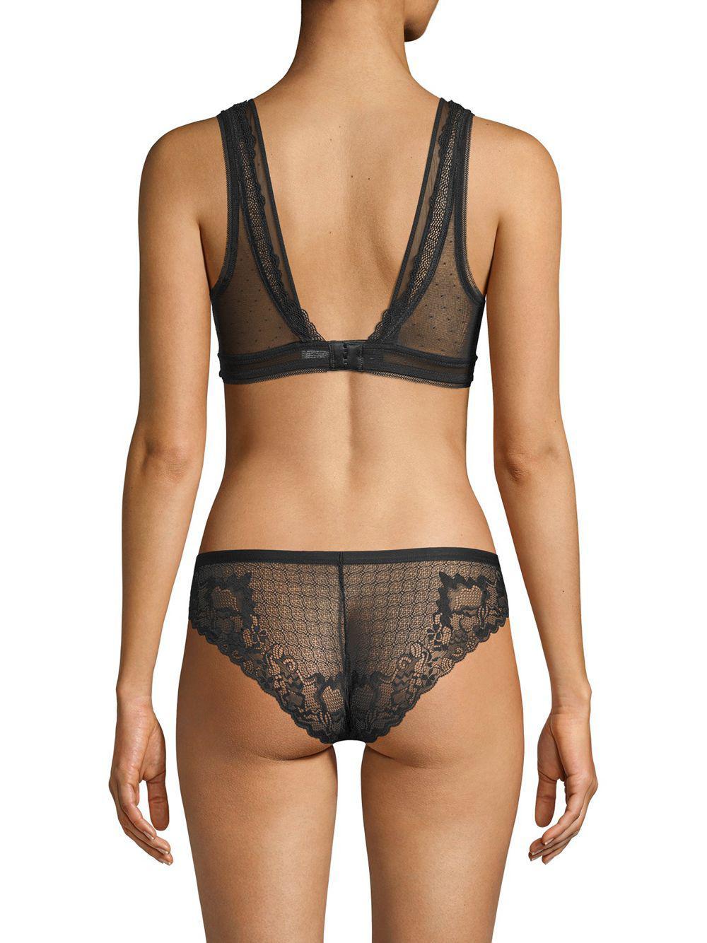 50ef1798e8 Lyst - Addiction Nouvelle Lingerie Lace And Mesh Bralette in Black