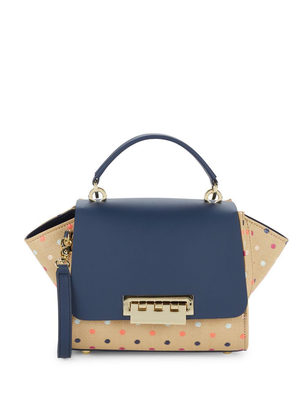 742e05f2b1 Zac Zac Posen Eartha Leather Top Handle Crossbody Bag in Blue - Lyst