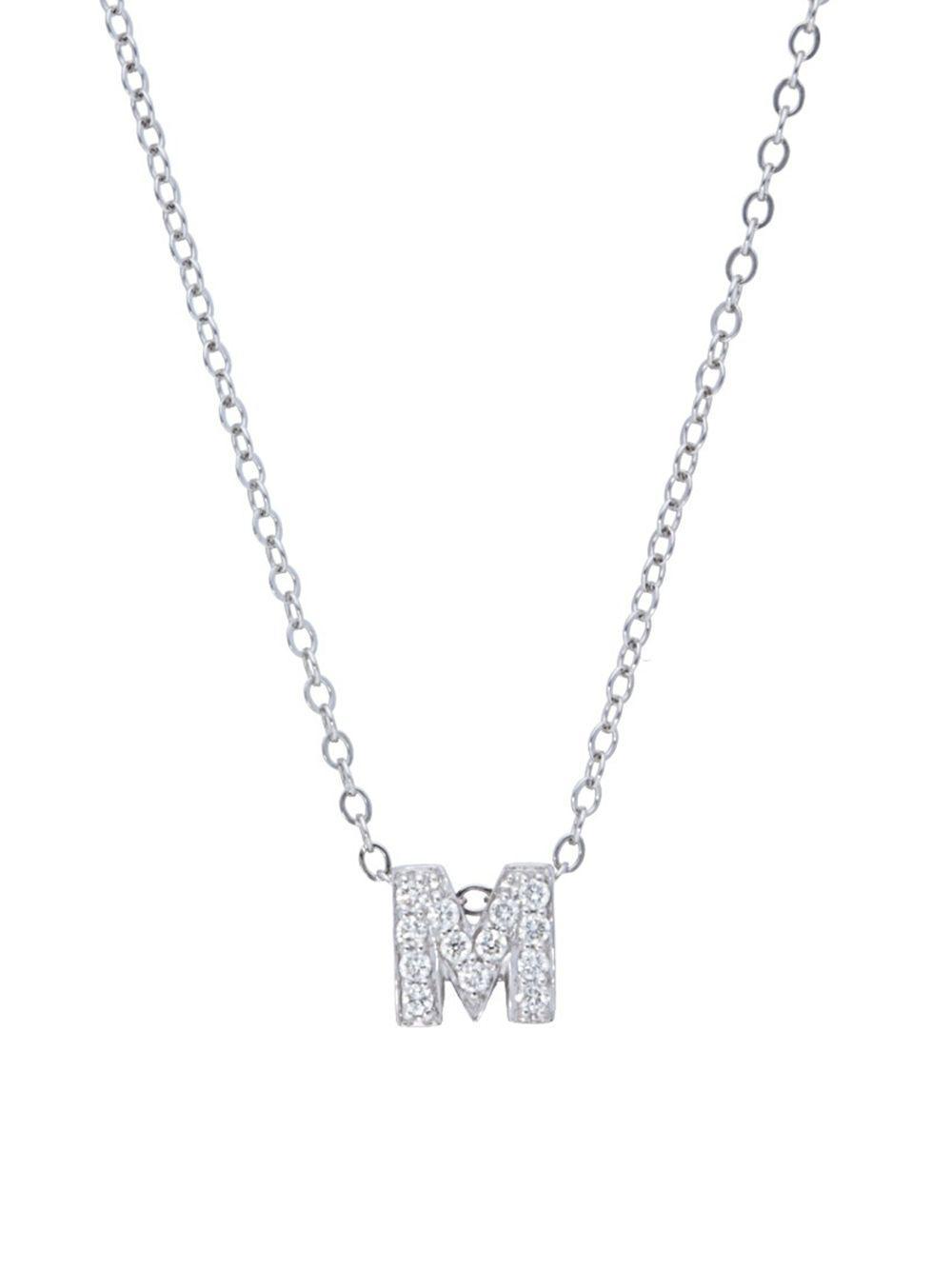 Lyst nephora diamond 14k white gold initial pendant necklace in nephora womens metallic diamond 14k white gold initial pendant necklace aloadofball Gallery