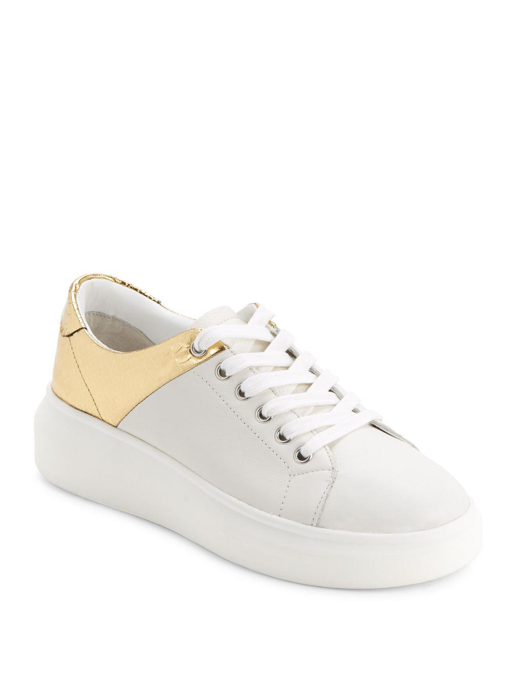 c4d17209c Lyst - J Slides Dania Leather Round-toe Platform Sneakers in White