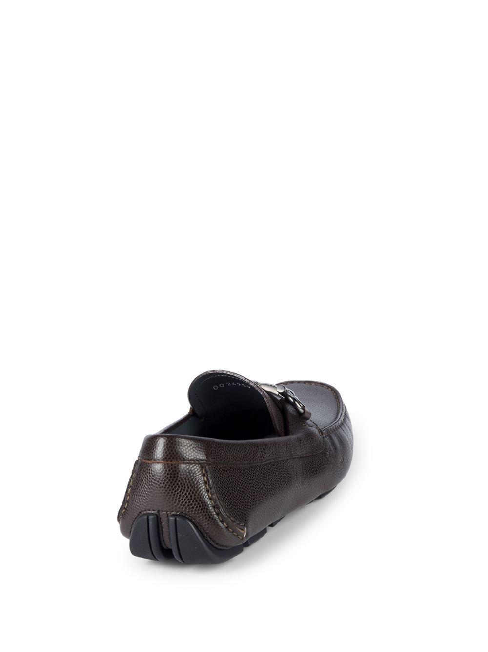 7cf2d6c4031 Lyst - Ferragamo New Parigi Leather Drivers in Brown for Men