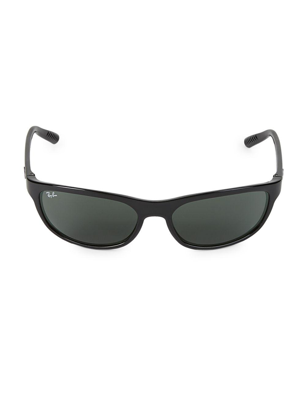 af91b930d32 Ray-Ban 62mm Shield Sunglasses in Black - Lyst