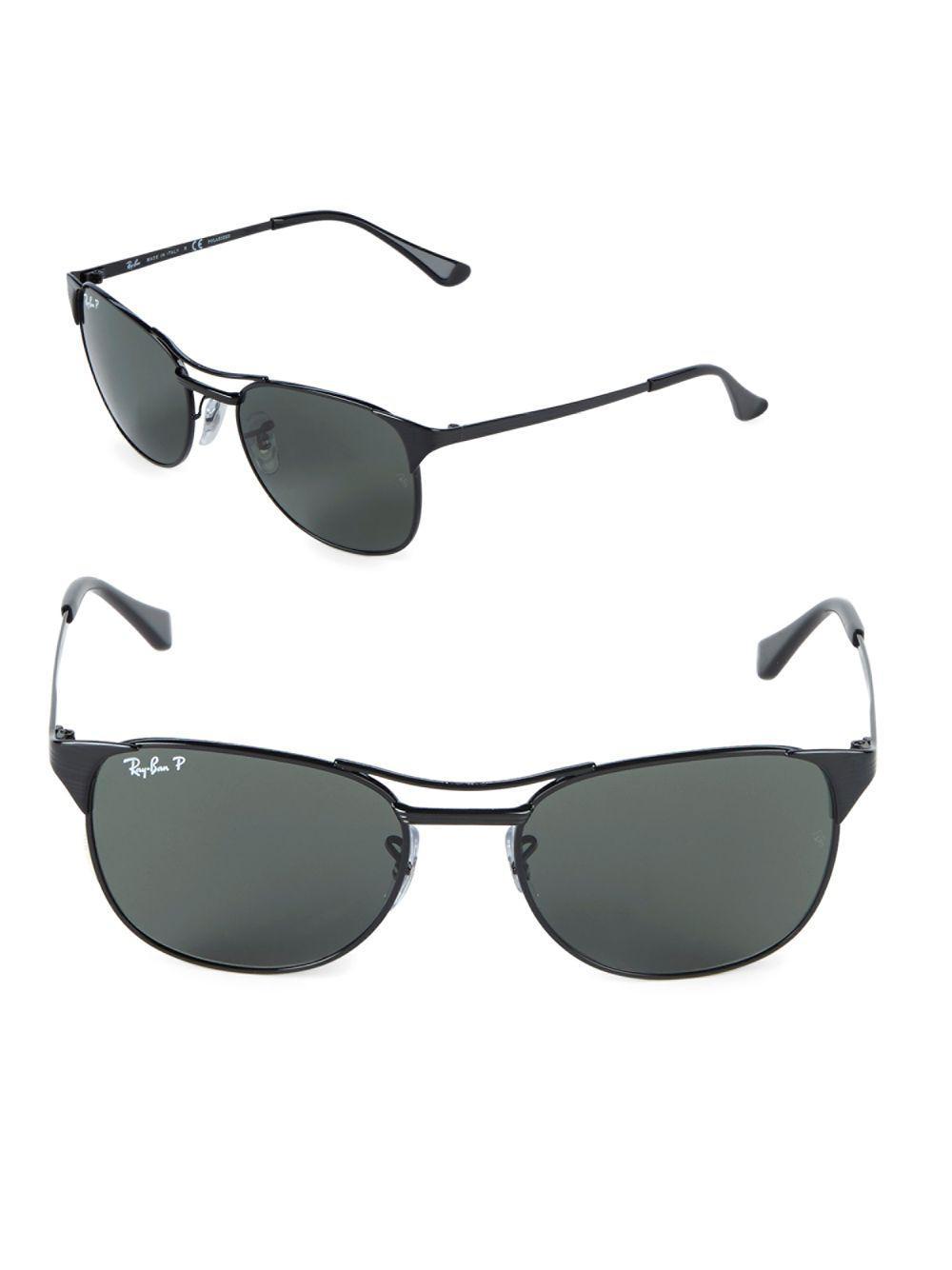 456b5bb1e5 ... top quality ray ban. mens black 55mm polarized signet sunglasses eaca2  47f3e