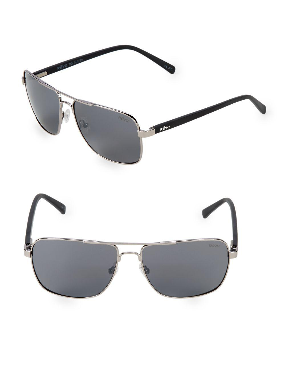 337432e1b40 Lyst - Revo 59mm Aviator Sunglasses in Metallic for Men