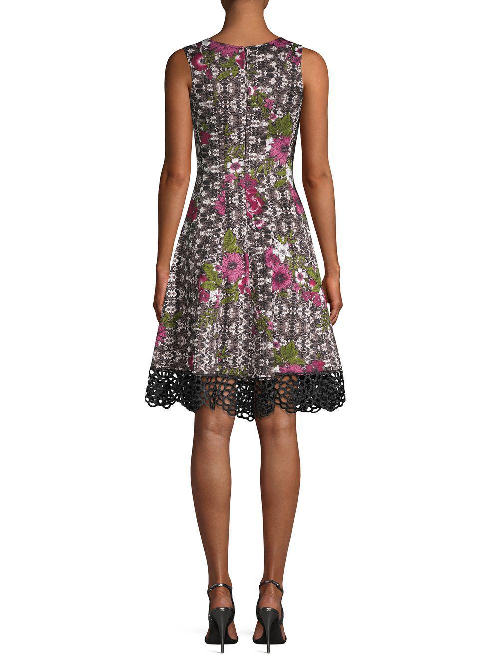 fe8ca5001c708 Donna Ricco - Multicolor Floral Fit-&-flare Dress - Lyst. View fullscreen