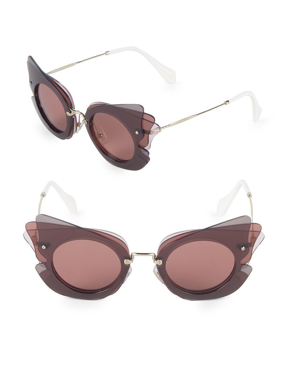 18824a31d2 Miu Miu. Women s 63mm Round Aviator Sunglasses