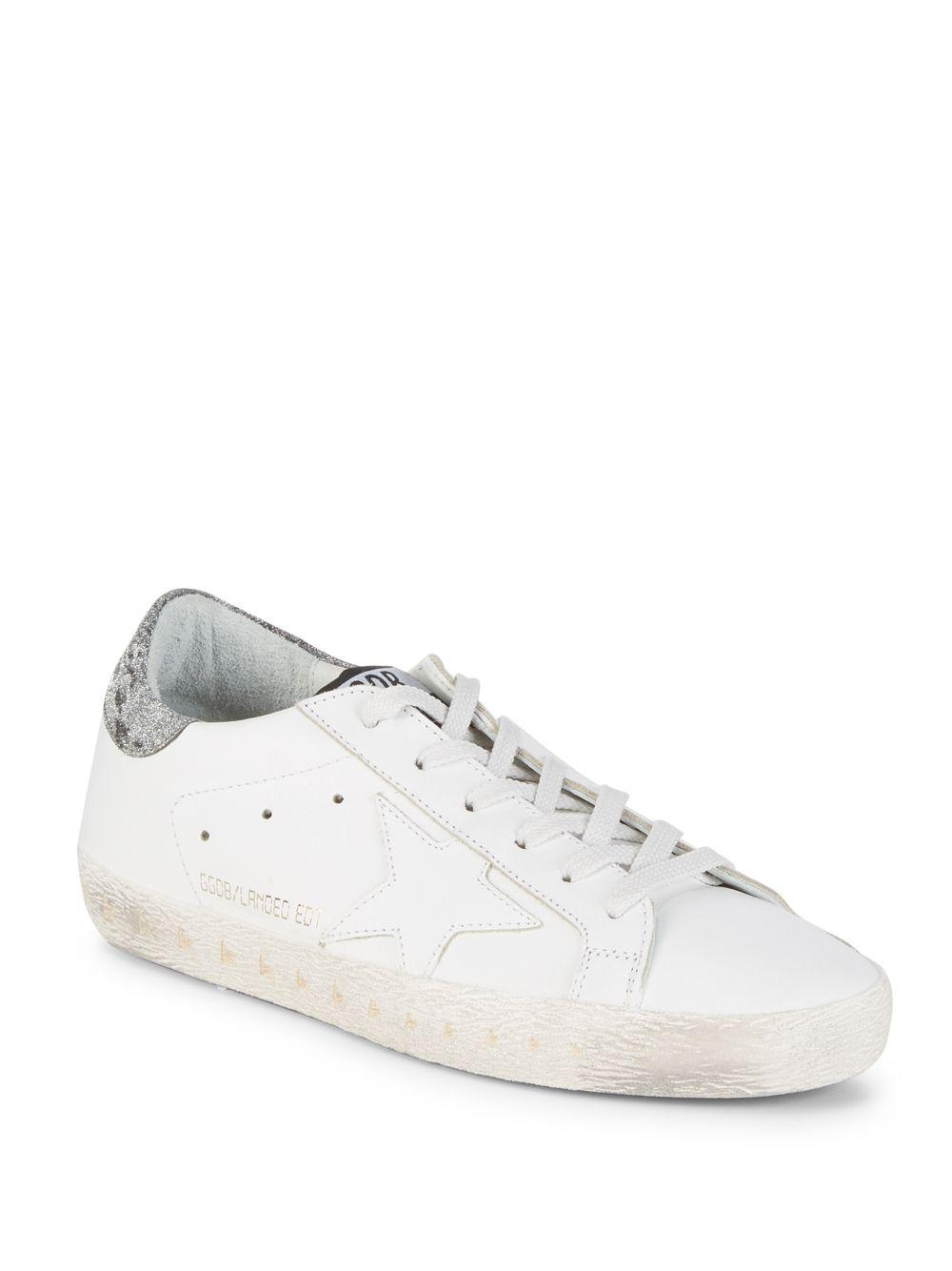 Sale - Old Superstar Velcro Leather Sneakers - Golden Goose Deluxe Brand Golden Goose VH8mzL