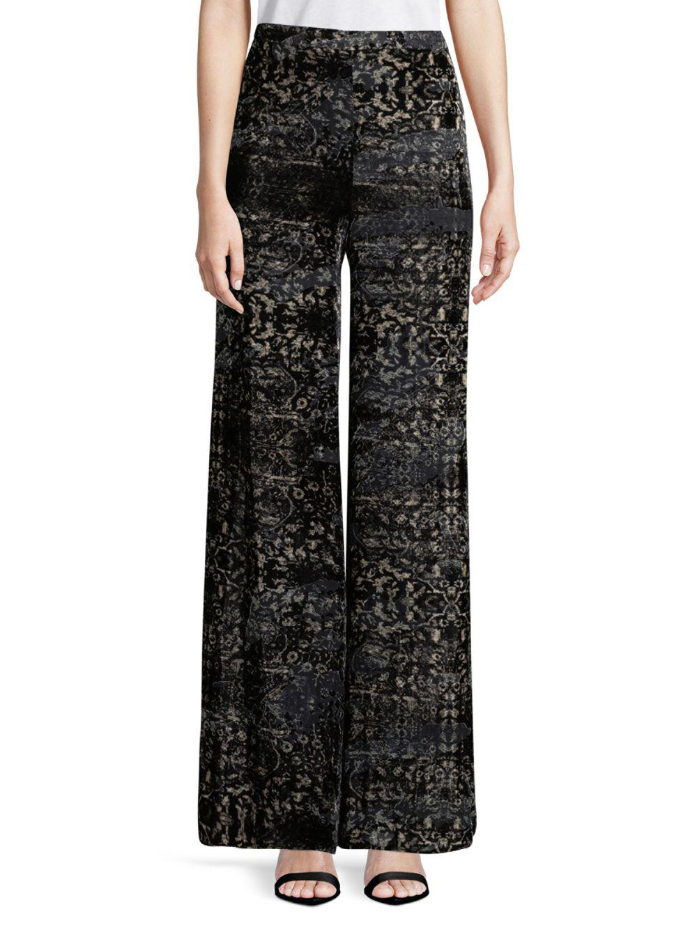 0f2b3acd194 Lyst - Haute Hippie Intricate Wide-leg Pants in Black - Save ...