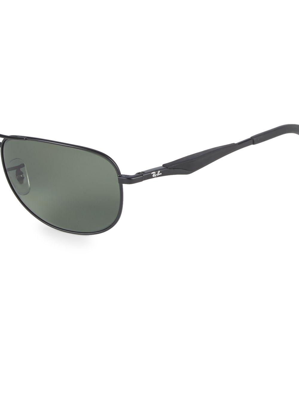 18fa4208dcd Ray-Ban - Black 59mm Polarized Pilot Sunglasses - Lyst. View fullscreen