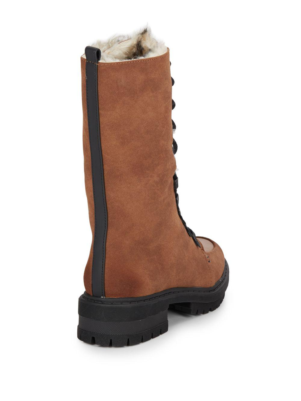 94f6ba2e0588 Lyst - Circus by Sam Edelman Liam Faux Fur-trimmed Boots in Brown