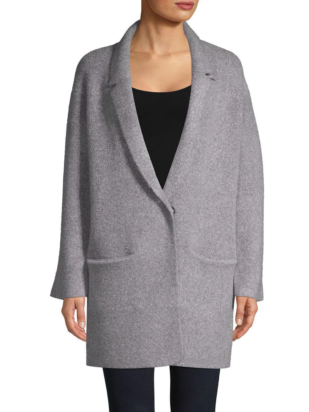 17d157bfb John + Jenn Oversize Sweater Coat in Gray - Lyst