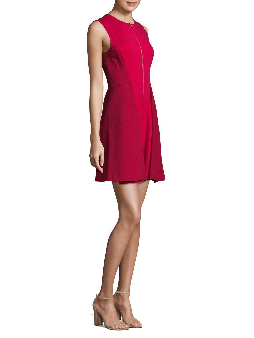 e8d7b8a6 Lyst - Elie Tahari Embline Sleeveless Dress in Red - Save 25%