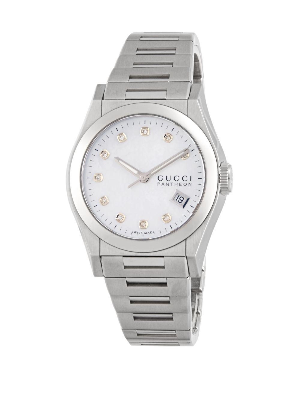 c38c4c0eecf Lyst - Gucci Polished Stainless Steel