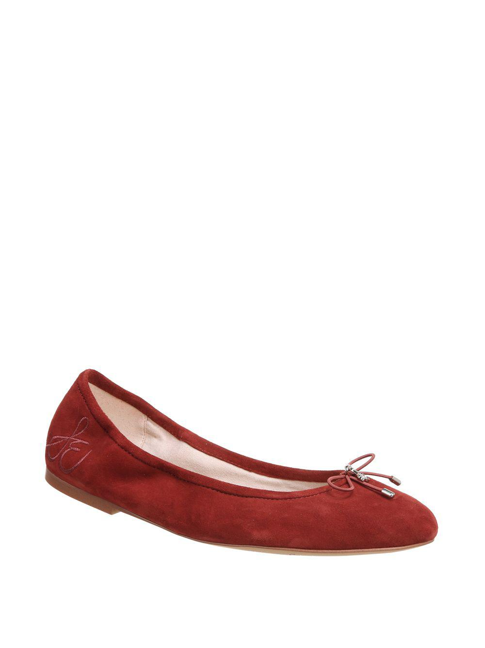 5f4256960e1a Lyst - Sam Edelman Felicia Suede Ballet Flats in Red