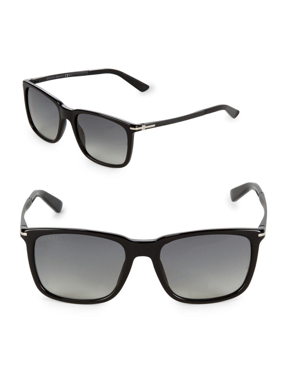 671e6e701e390 Gucci Gradient 55mm Wayfarer Sunglasses in Black - Lyst