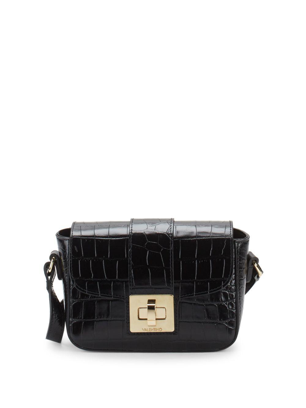 cd90aa5aea Lyst - Valentino By Mario Valentino Yasmin Croc-embossed Leather ...