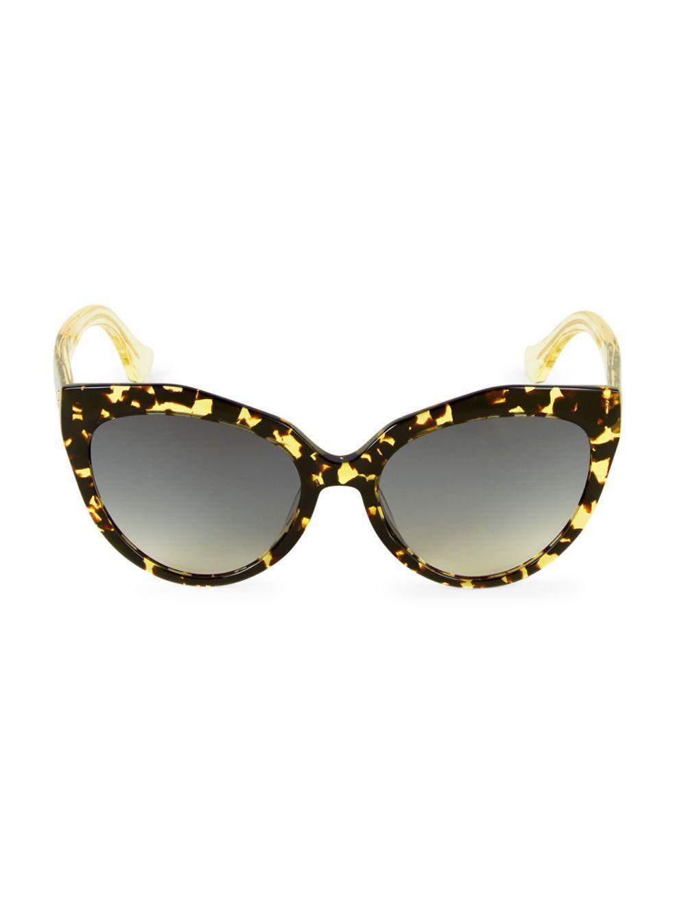 3ad5534f9e3 Lyst - Balenciaga 52mm Tortoiseshell Cateye Sunglasses in Brown