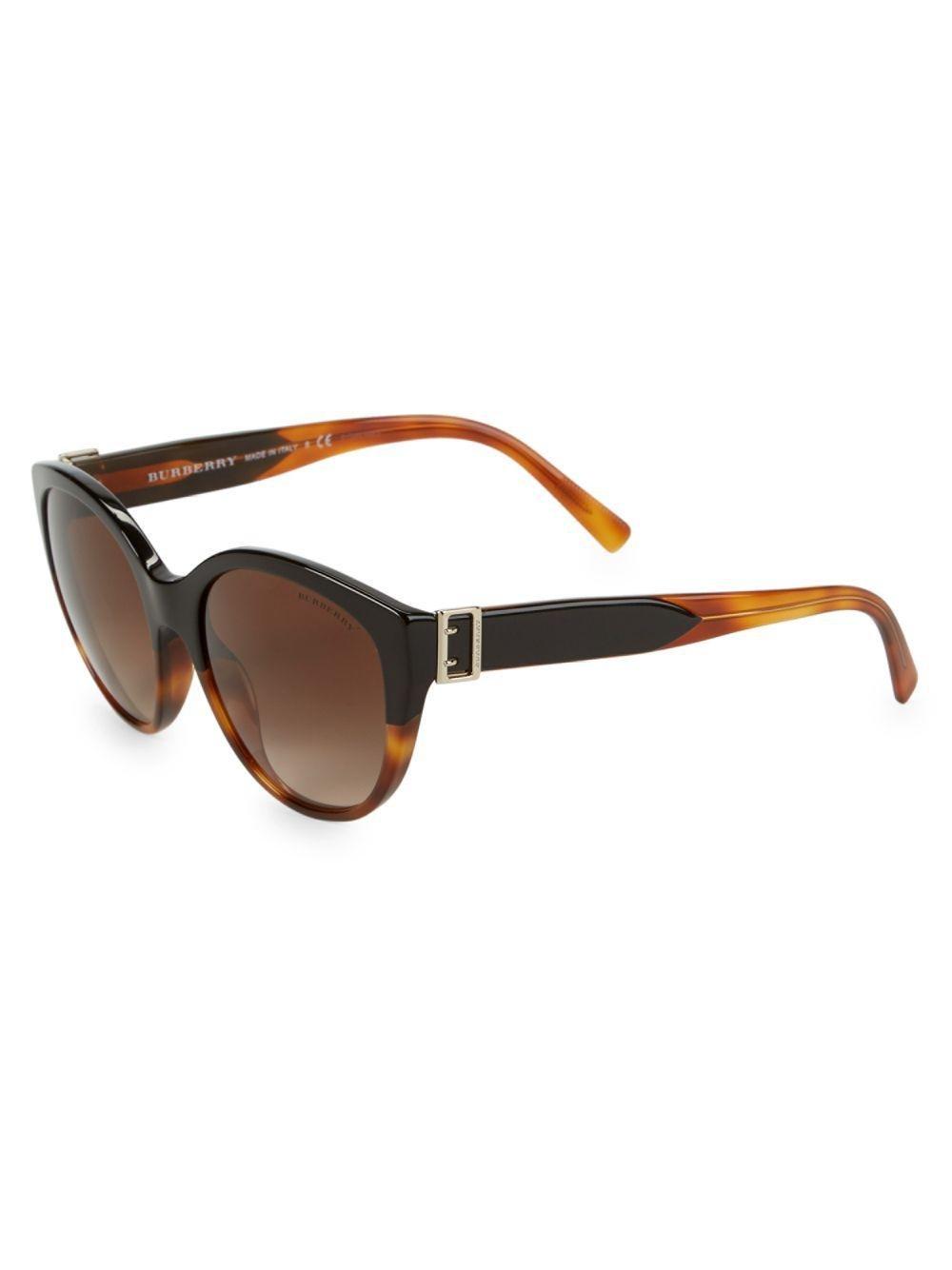 13d1052210c3 Burberry 36mm Cateye Sunglasses - Lyst