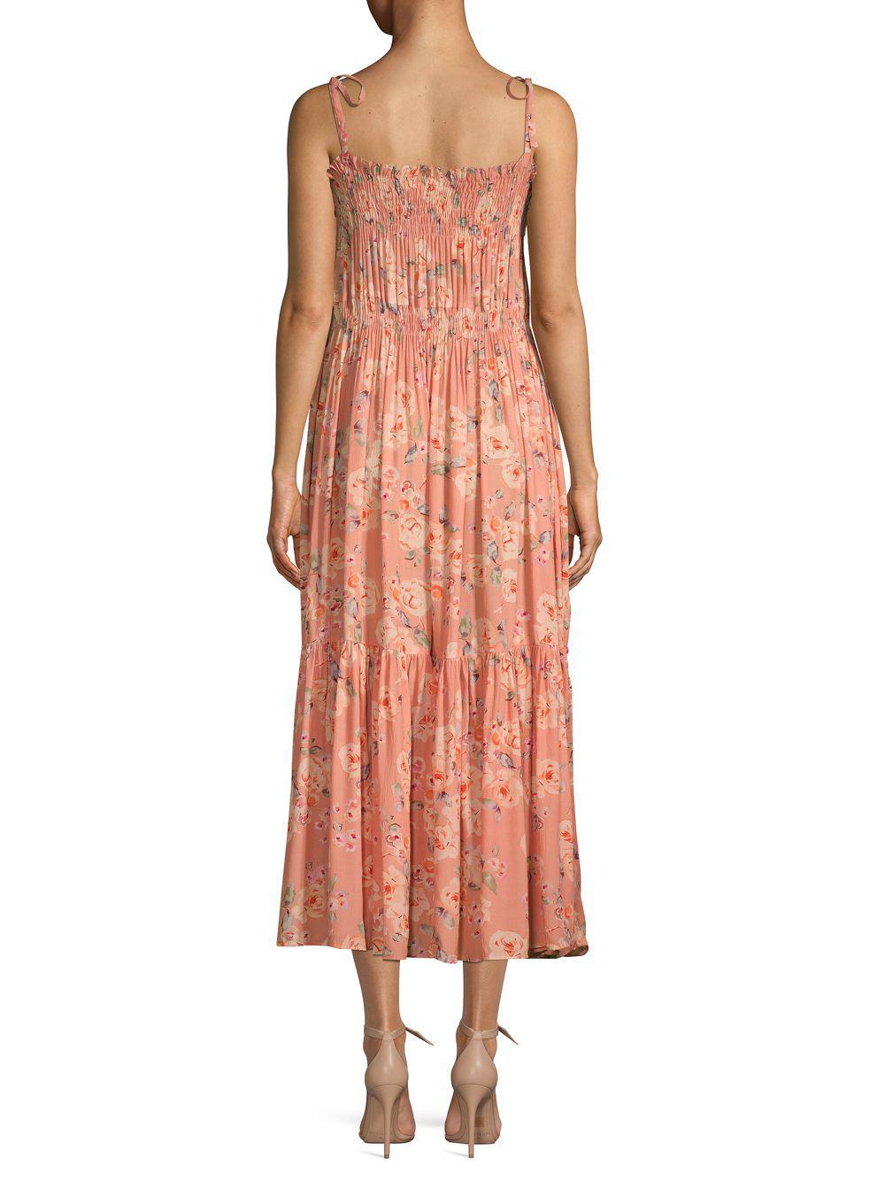 854b7fa637ee Lyst - Love Sam Jeanie Floral Maxi Dress in Pink