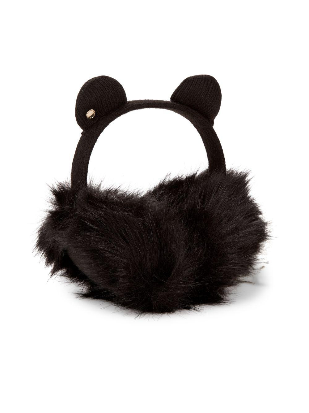 c5726df331e Lyst - Karl Lagerfeld Faux Fur Kitty Earmuffs in Black