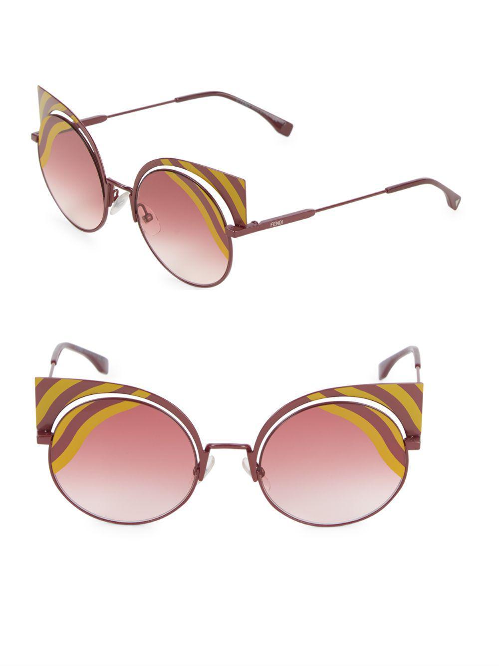 134aa7351bb Fendi - Multicolor 42mm Rounded Cat Eye Sunglasses - Lyst. View fullscreen