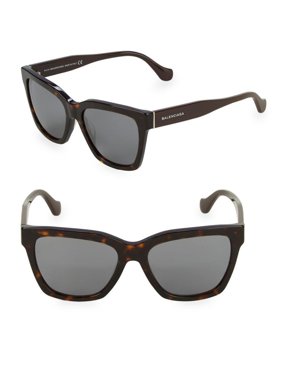 13ec5f5441e Balenciaga - Brown Tortoiseshell 55mm Square Sunglasses - Lyst. View  fullscreen