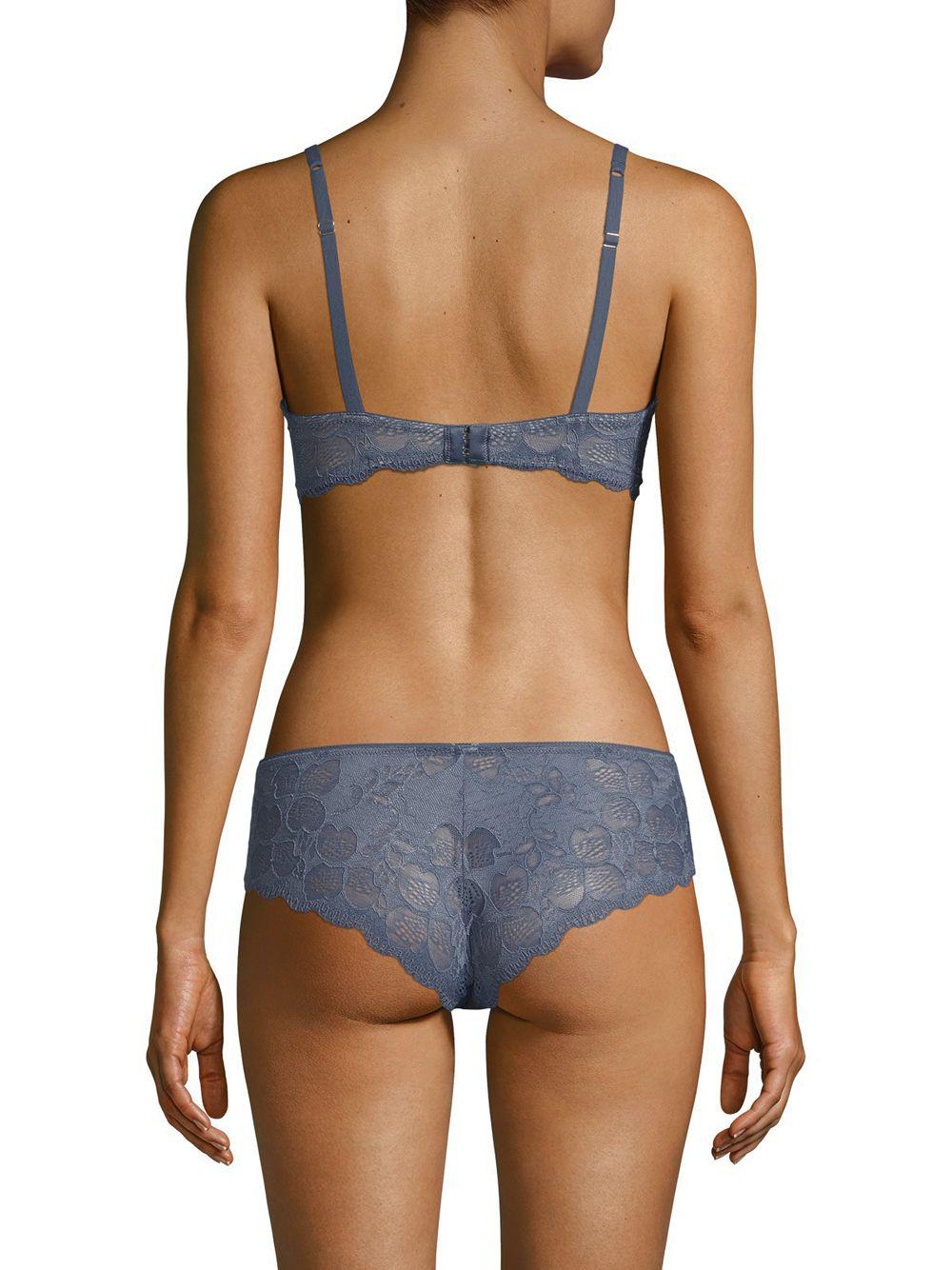 7caa687570 Lyst - Addiction Nouvelle Lingerie Sweethearts Lace Bra in Blue