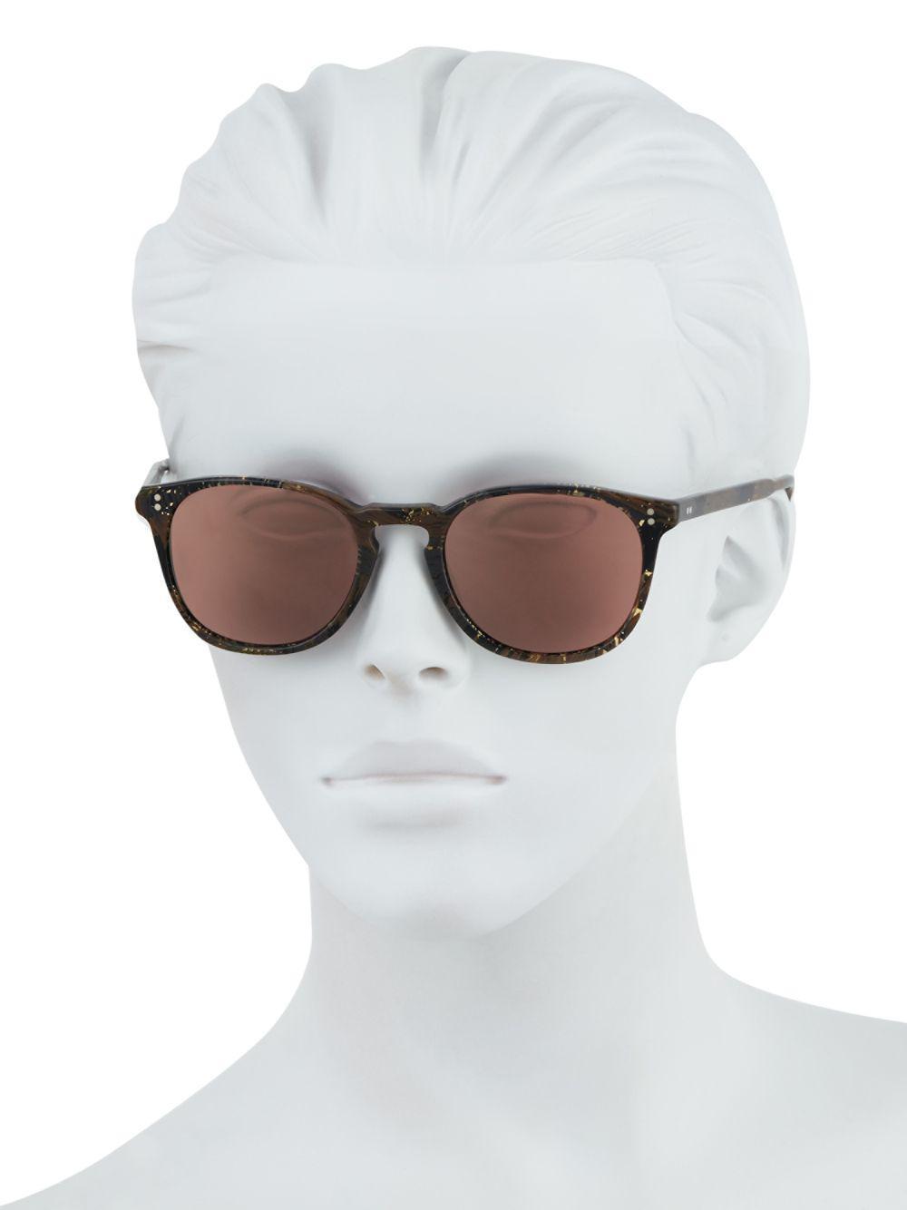 b2e99ff4ac7 Oliver Peoples - Brown Finley Esq. 47mm Square Sunglasses - Lyst. View  fullscreen
