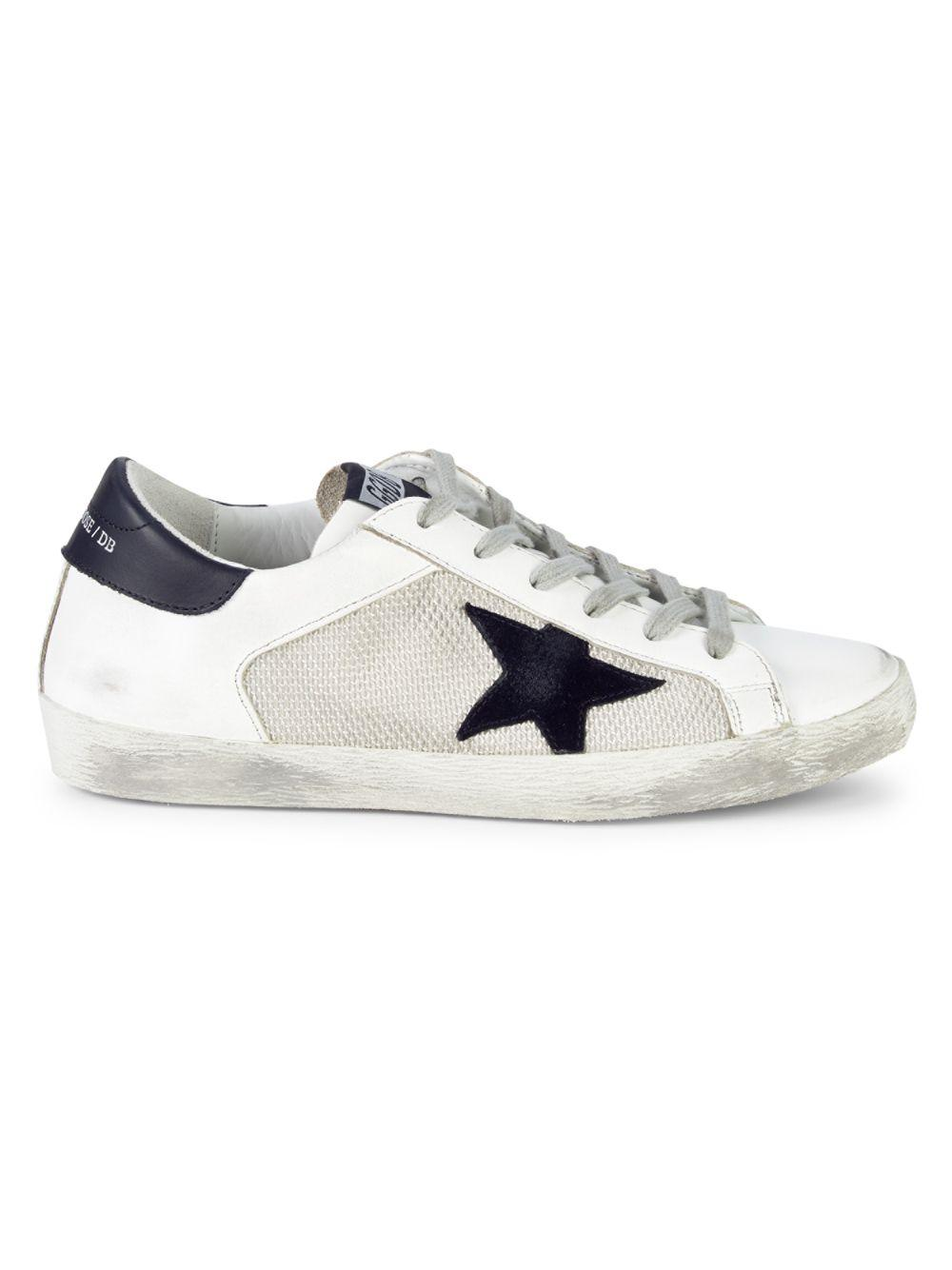 00bbaef6810 Lyst - Golden Goose Deluxe Brand Superstar Mixed Media Sneakers in White