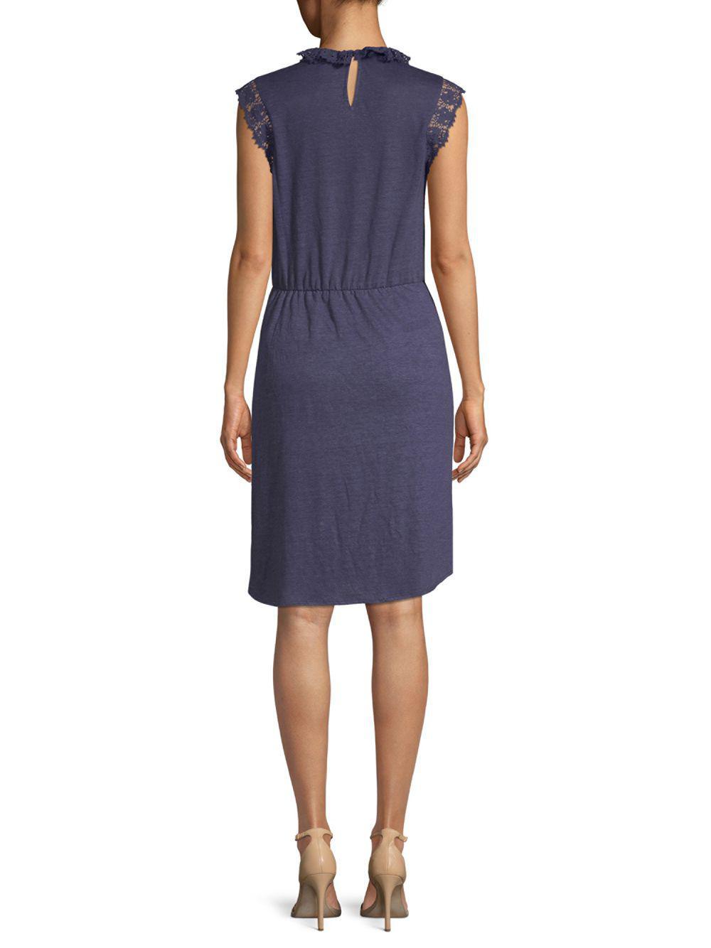 c32dd2980c Rebecca Taylor - Blue Crochet Sleeveless Linen Dress - Lyst. View fullscreen