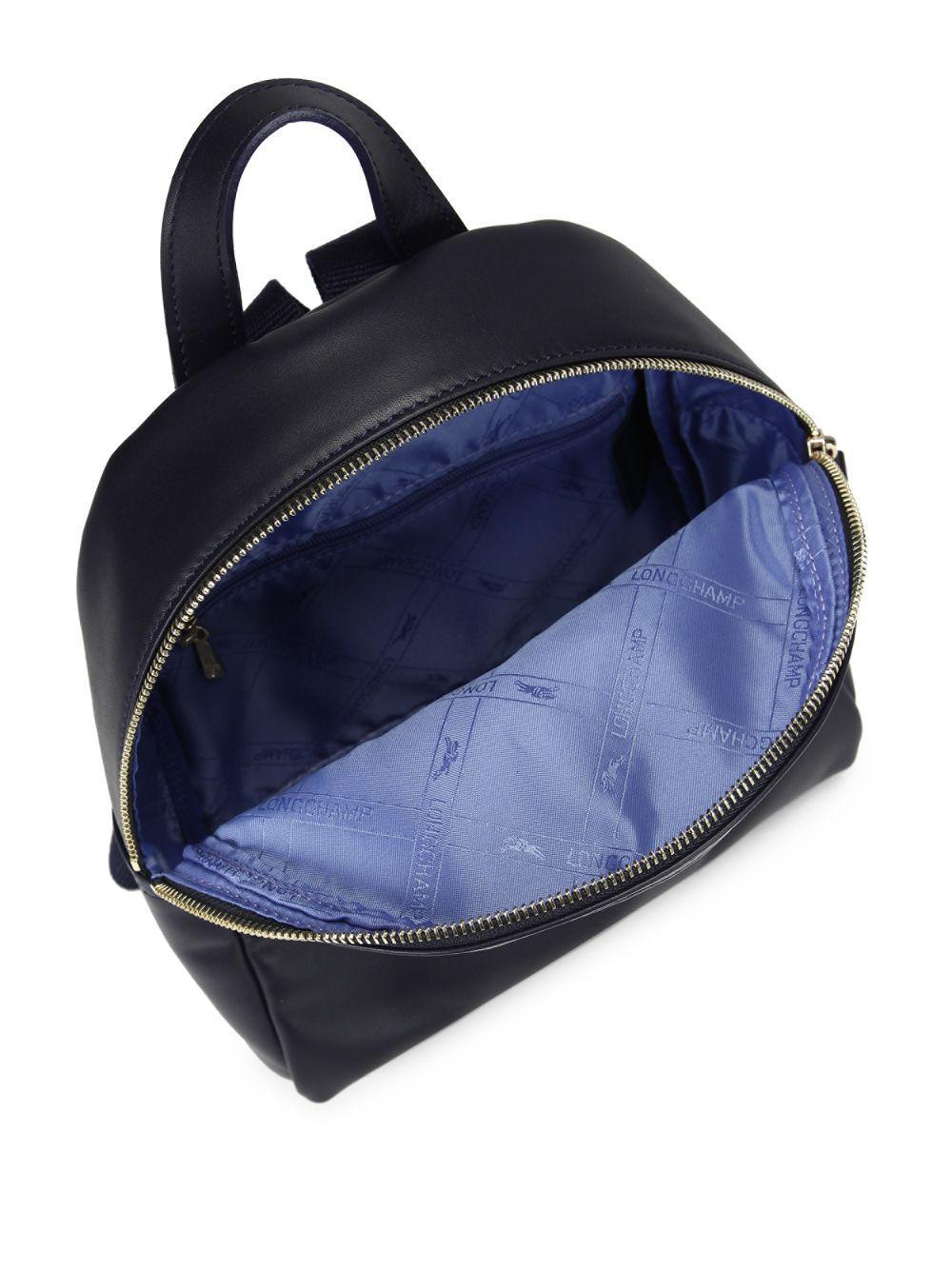 48b6989648b3 Longchamp - Blue Logo Leather Backpack - Lyst. View fullscreen