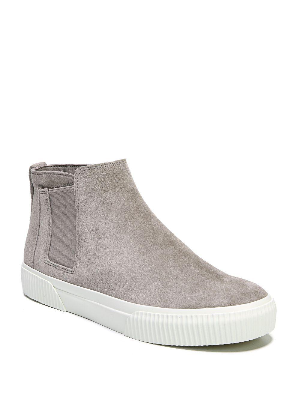 efa9dfd97ab Vince Kelowna Suede Sneakers in Gray - Save 23% - Lyst