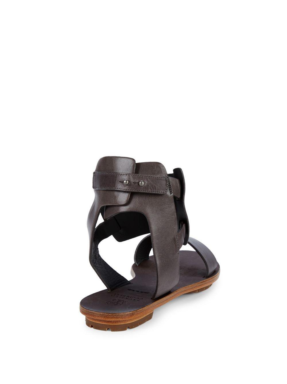 8ccb596642b1 Brunello Cucinelli - Brown Crisscross Ankle-strap Sandals - Lyst. View  fullscreen