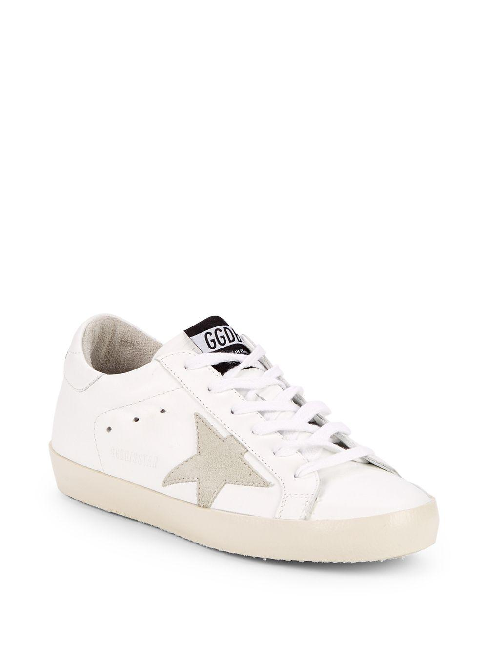 abe0370017b Golden Goose Deluxe Brand. Women s White Superstar Leather Low-top Sneakers