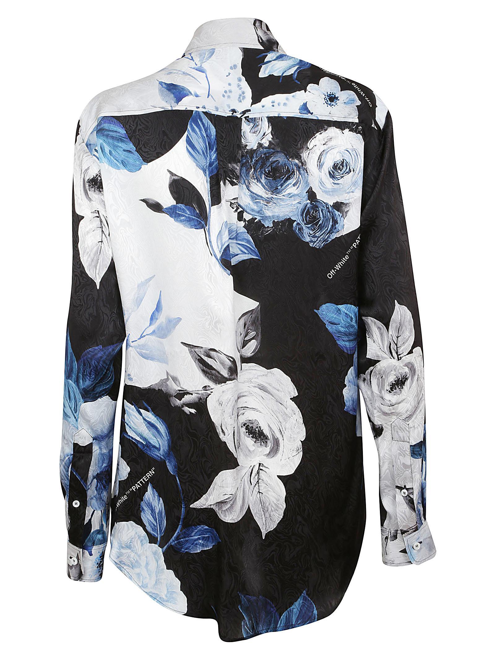 9a27fcf516a7 Lyst - Off-White c o Virgil Abloh Floral Basic Shirt in Black