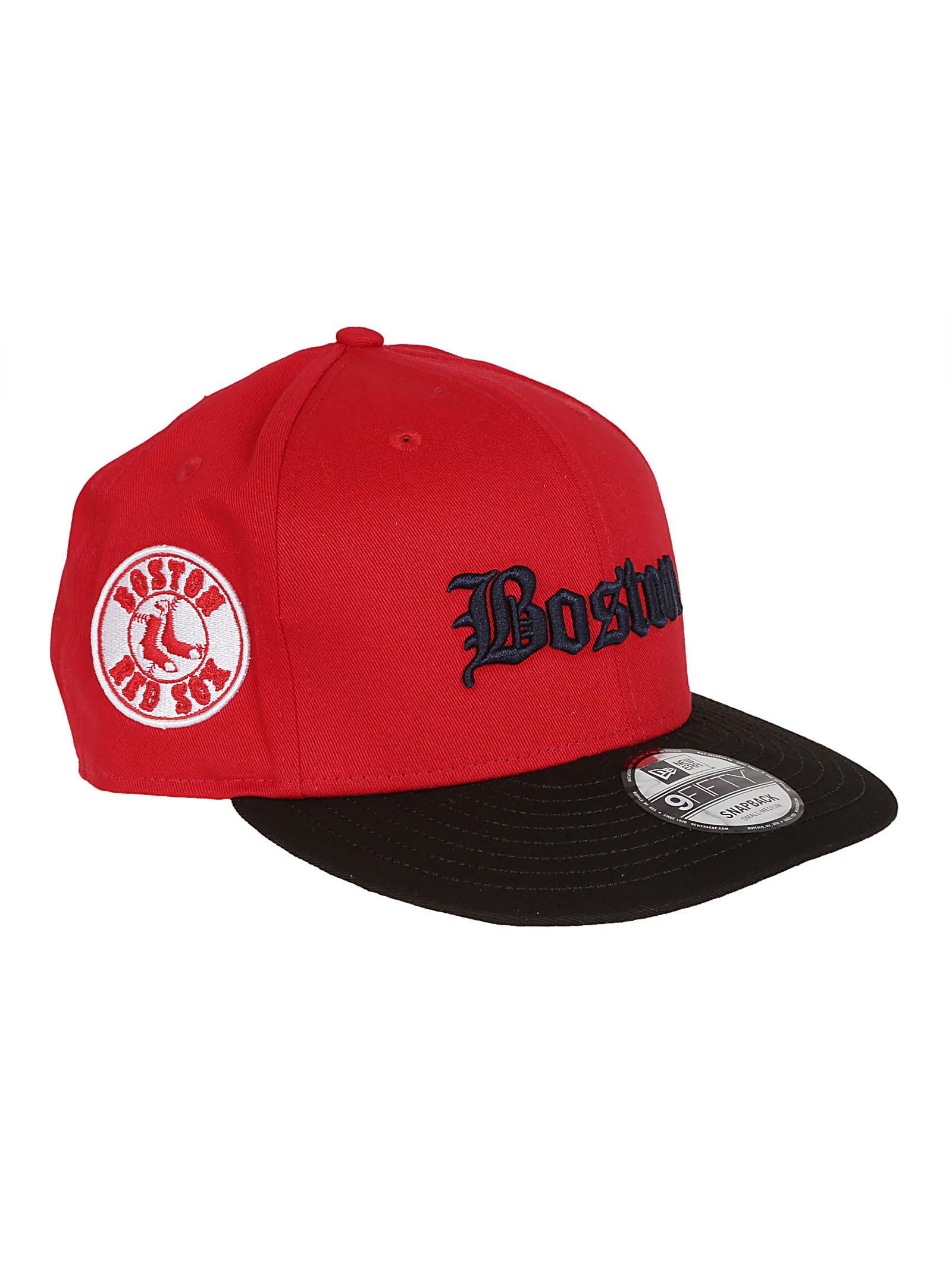 0c9ca05f57ca8a Lyst - Marcelo Burlon Ne Red Sox Cap Red Black in Red for Men