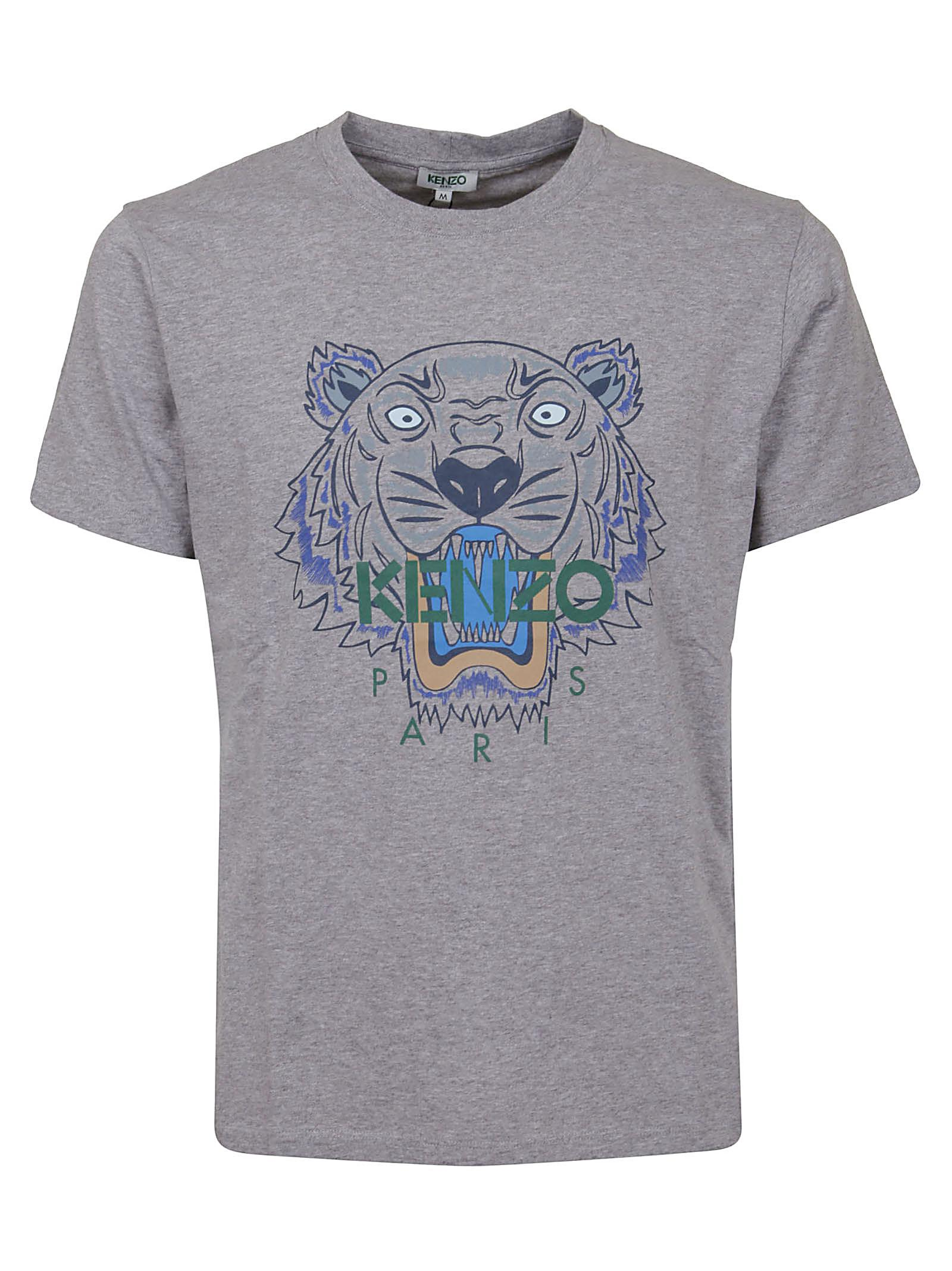 33b485f33 KENZO - Gray Classic Tiger T-shirt for Men - Lyst. View fullscreen