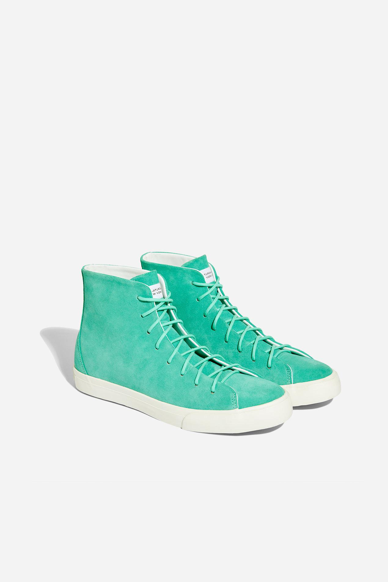 d57659d80b9 Lyst - Saturdays NYC Mike High Suede Sneaker in Green for Men