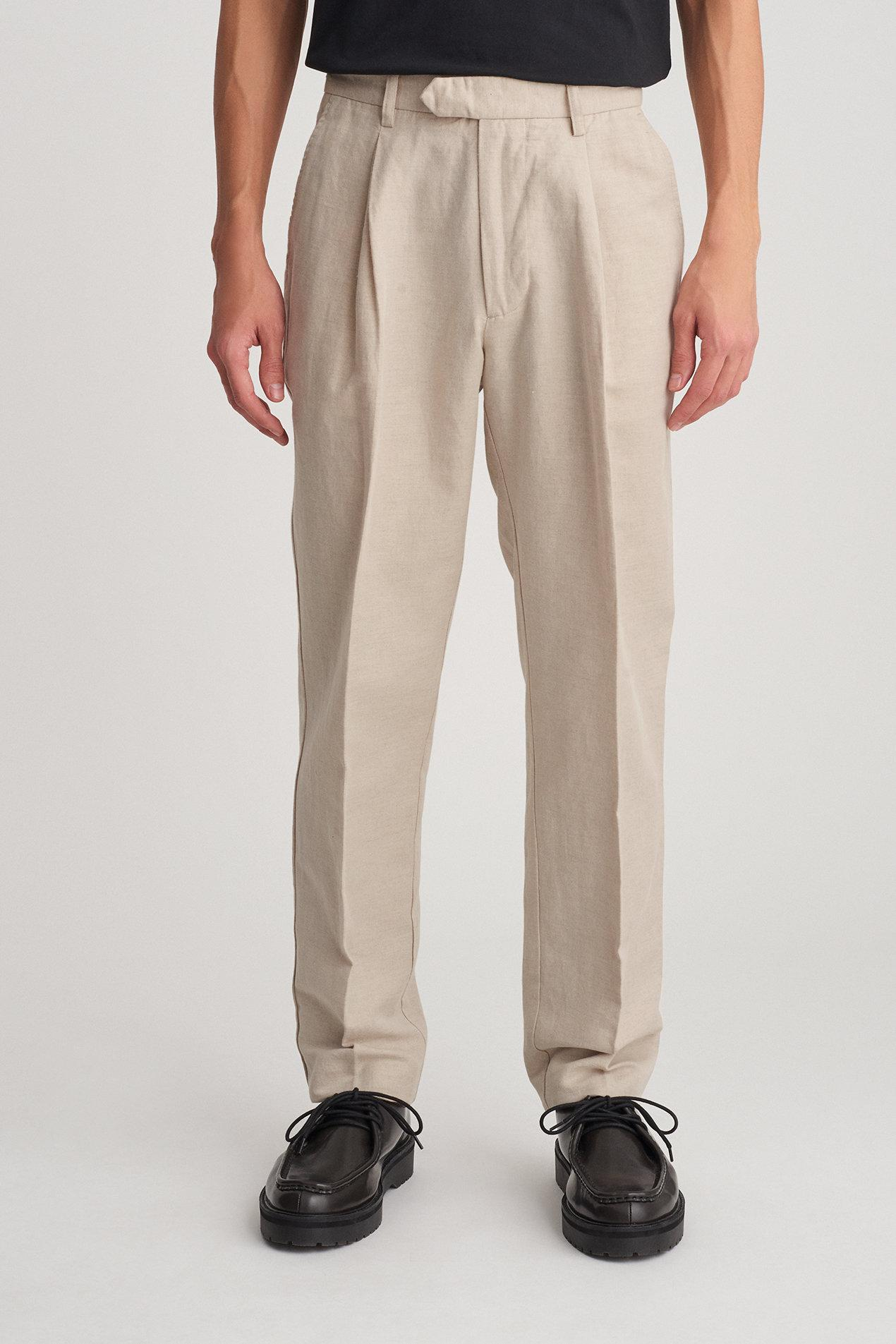 Pleated Linen And Cotton-blend Trousers Saturdays Surf NYC 7Y7lgDFgU