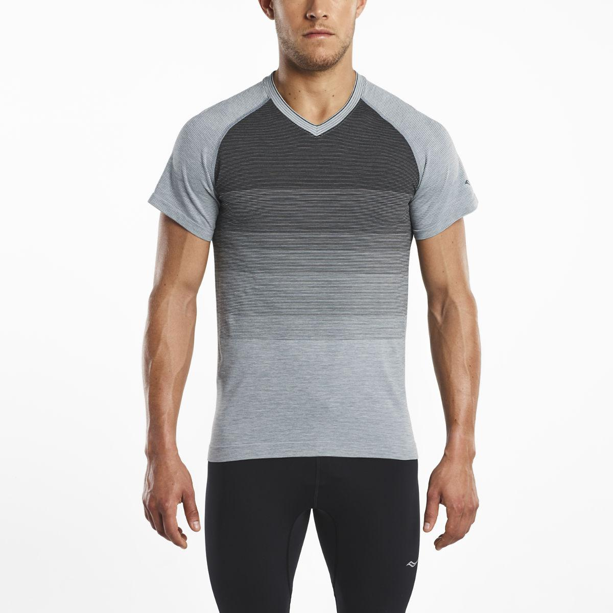02ddc86c Saucony Seamless V-neck Short Sleeve in Black for Men - Lyst