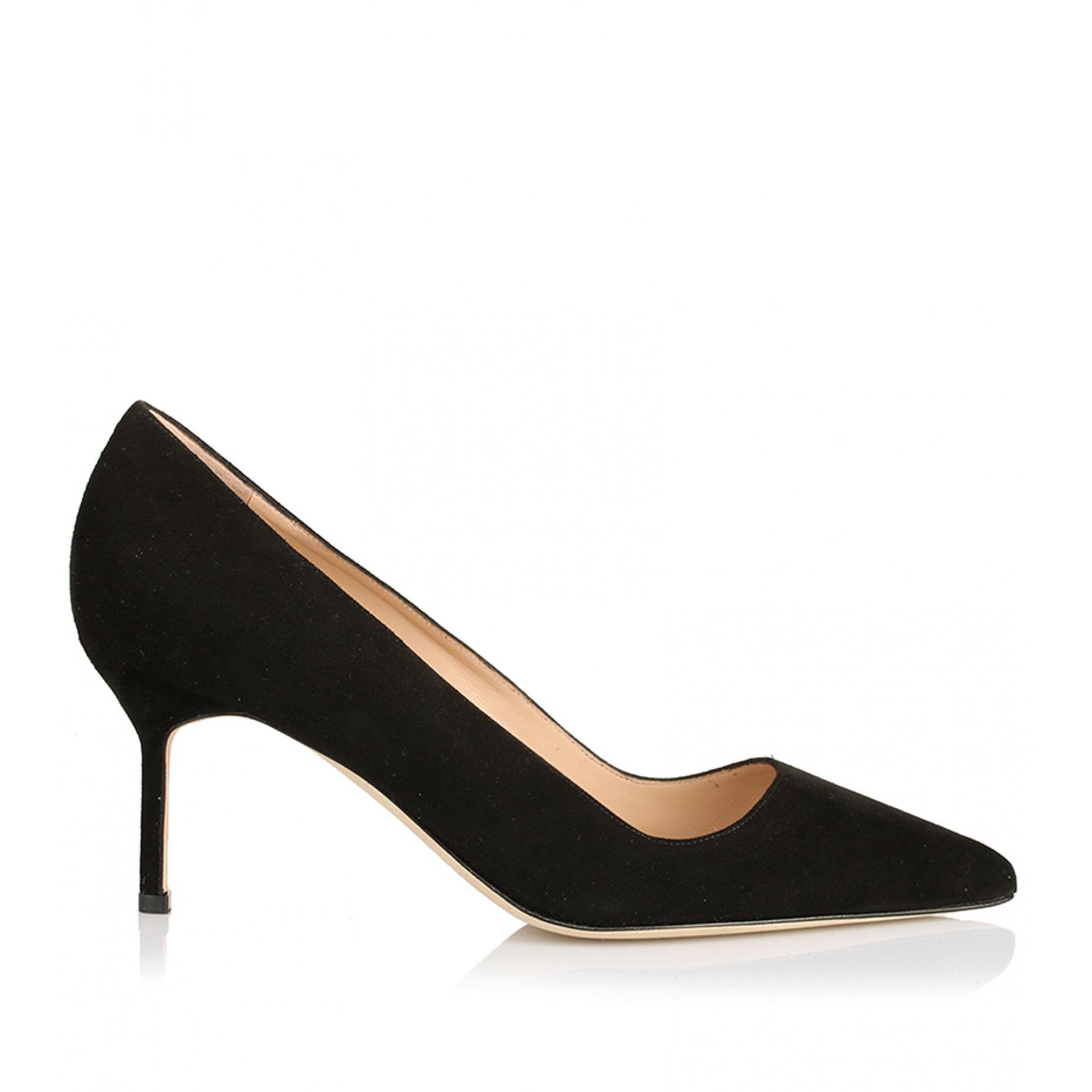 BB70 black velvet pump Manolo Blahnik