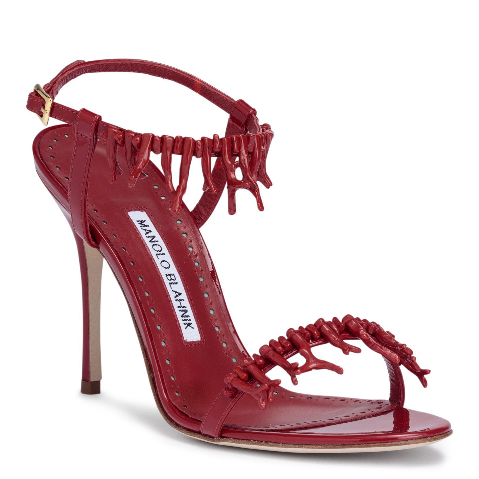 Cienzona 105 red patent sandals Manolo Blahnik Discount Fashionable RqXW8OyL