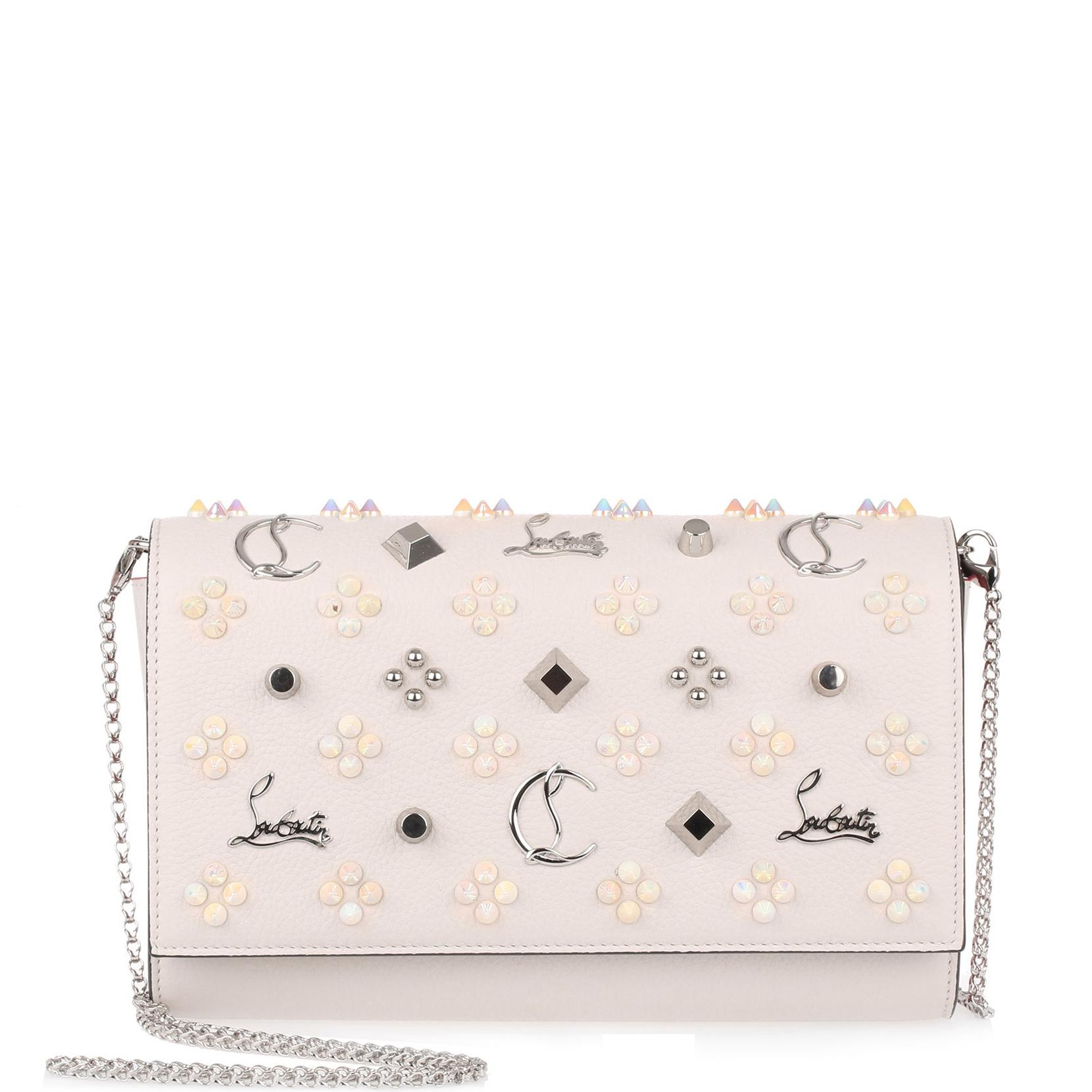 a391c327aa Christian Louboutin Paloma Loubinthesky Ivory Clutch in Pink - Lyst