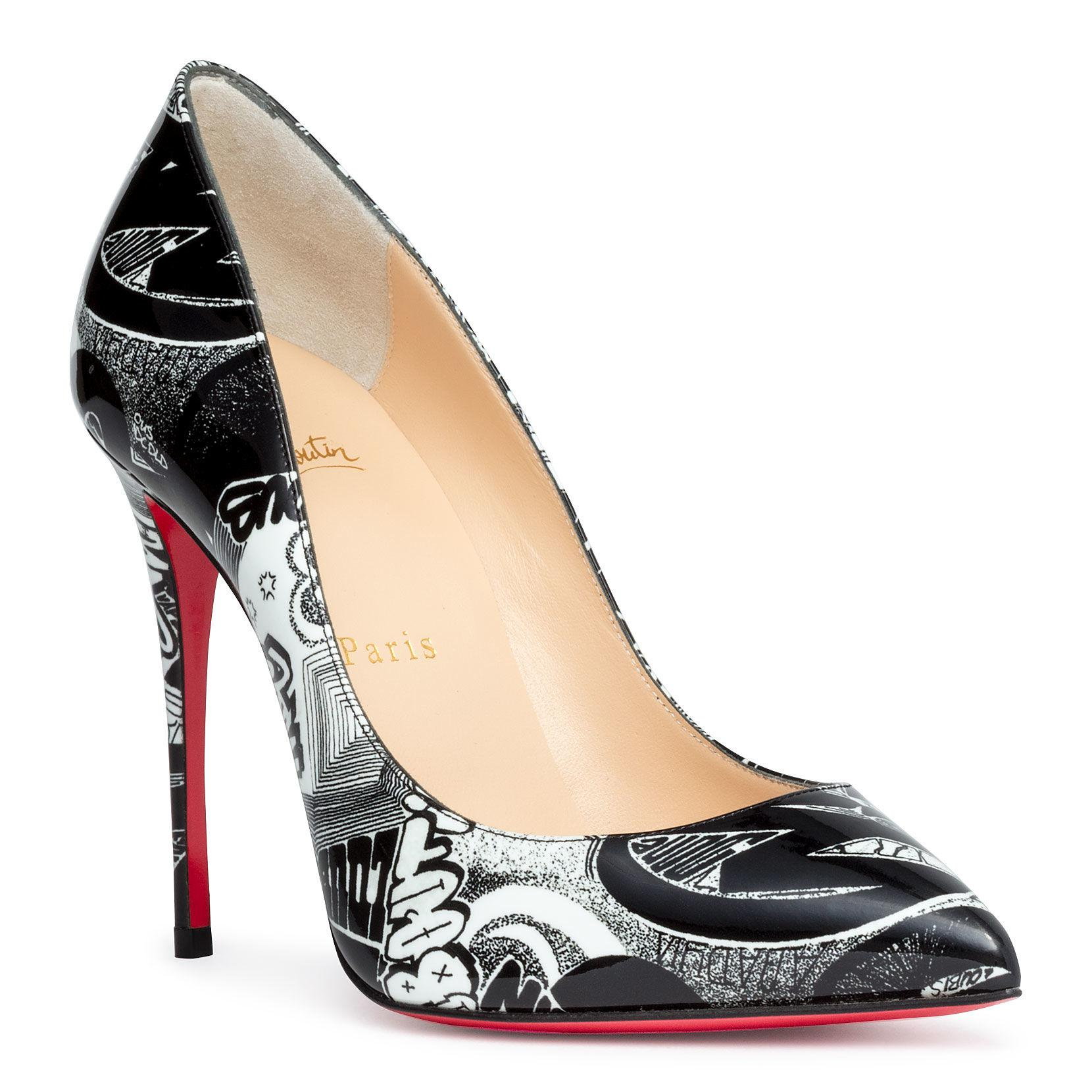 fae66748388a Christian Louboutin. Women s Pigalle Follies 100 Nicograf Black Patent  Leather Pumps