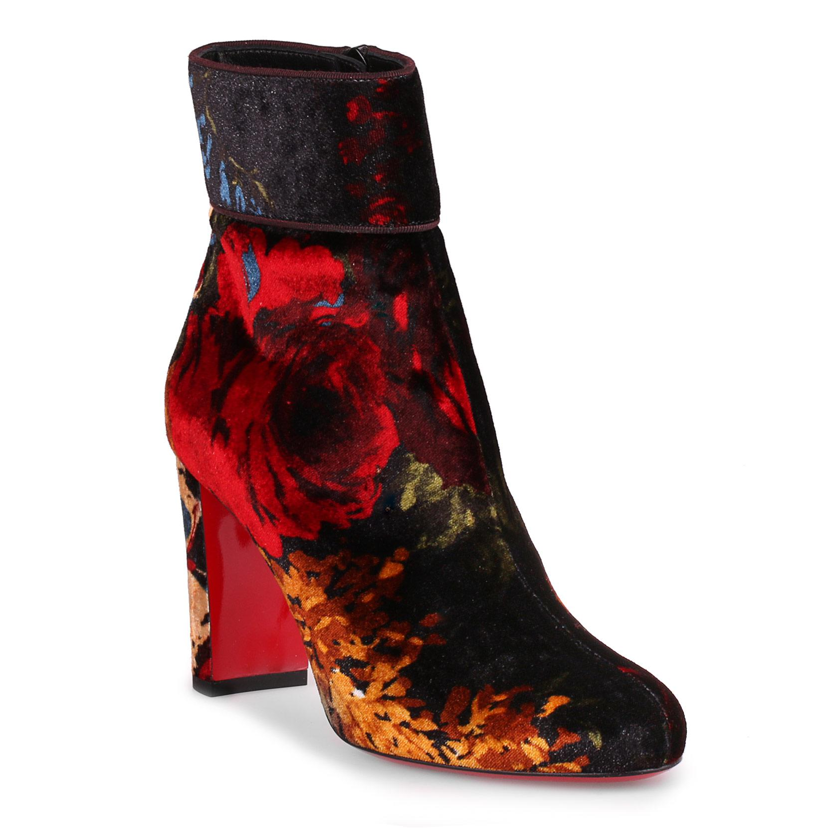 Moulamax 100 floral velvet bootie Christian Louboutin Find Great For Sale Discount Clearance Store Cheap Sale Wide Range Of Pictures Cheap Online Pick A Best Cheap Online 5Bd4kwtuY