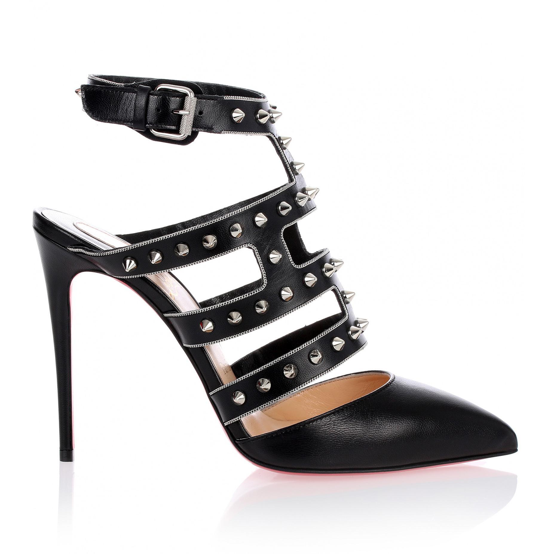 Tchicaboum black spikes sandal Christian Louboutin hot17U