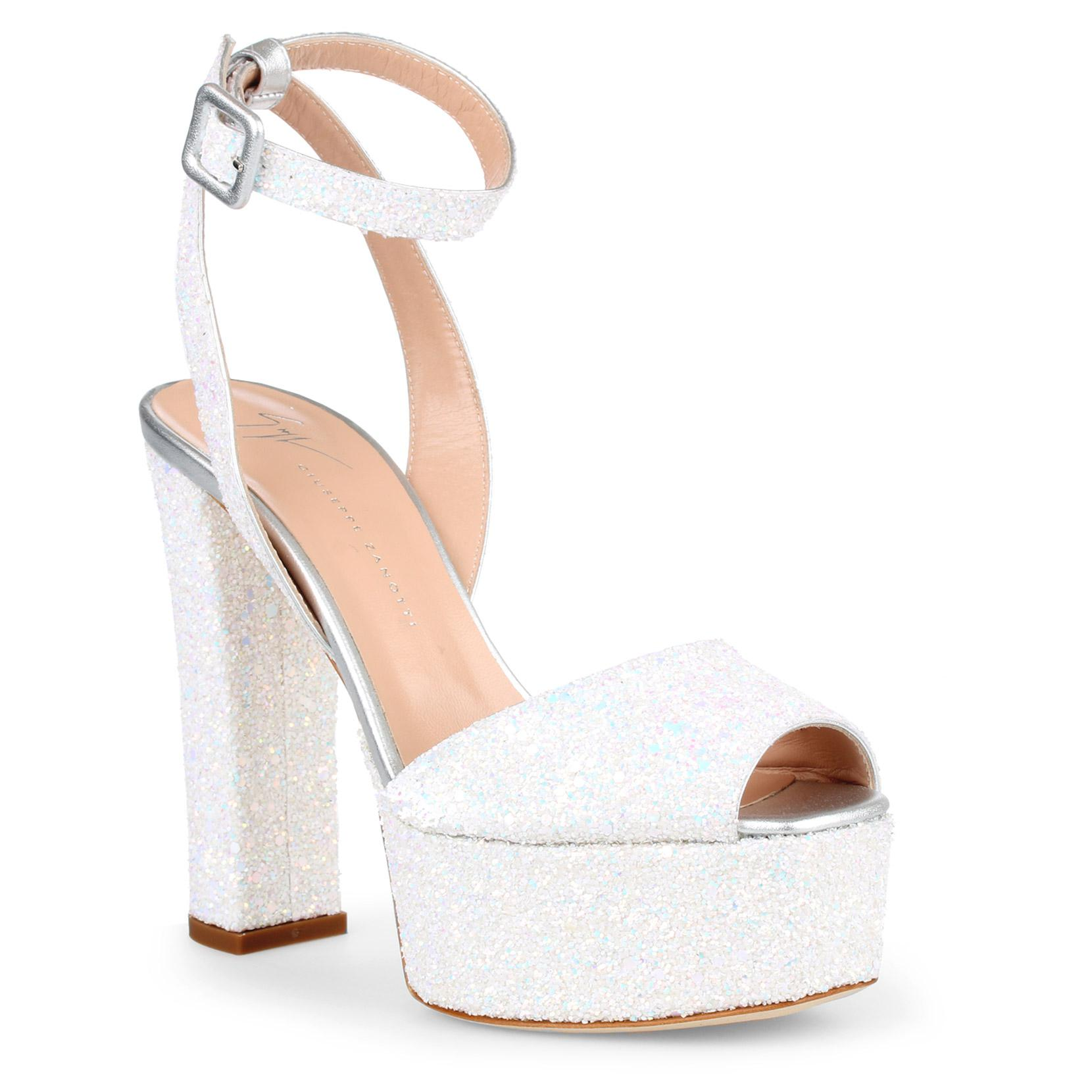 cca4c44c370 Lyst - Giuseppe Zanotti Betty White Glitter Sandals in White