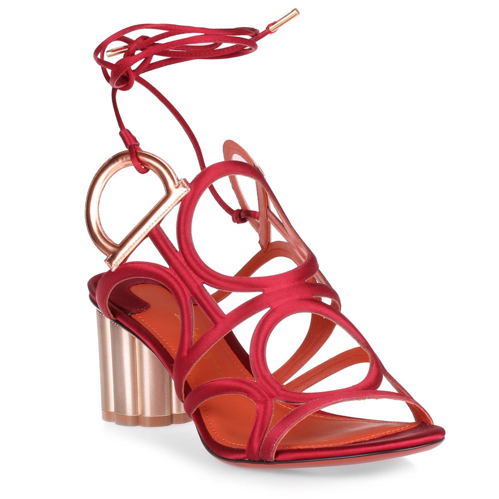 Vinci 55 crepe satin sunstone sandal Salvatore Ferragamo 1SEeqIIPb