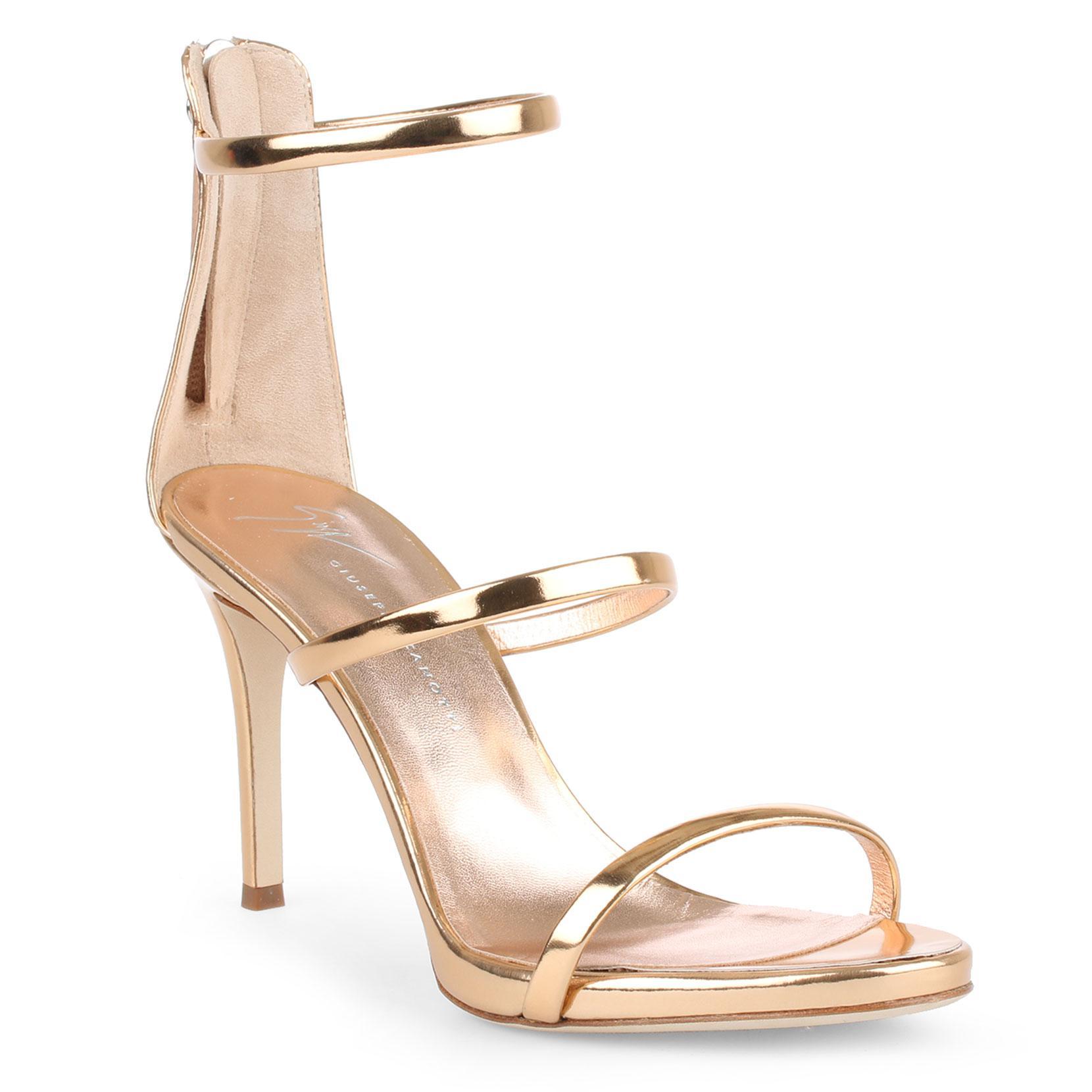 Harmony 120 silver metallic leather sandals Giuseppe Zanotti gv50Tf0NF