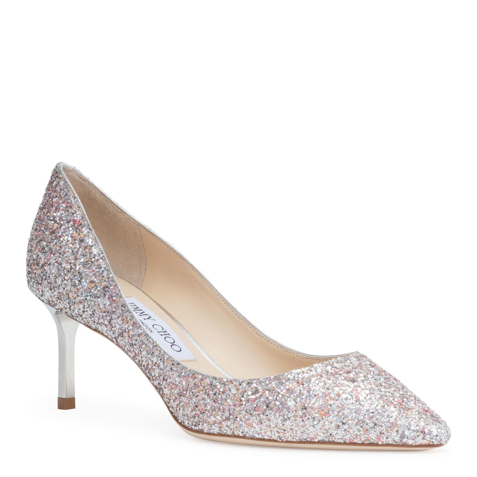 08e3f21a5c4 Lyst - Jimmy Choo Romy 60 Silver Mix Glitter Pumps in Metallic